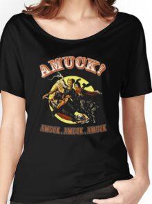 Halloween t-shirt Amuck Amuck Amuck 3 witches fly Women's Relaxed Fit T-Shirt