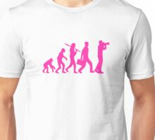 Hot Pink Evolution of Photography Graphic Unisex T-Shirt