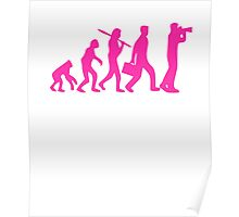 Hot Pink Evolution of Photography Graphic Poster