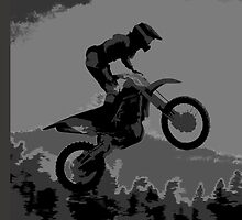"""The Scenic View"" Motocross Racer  by NaturePrints"