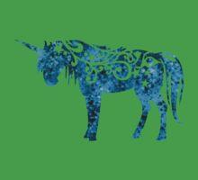 Unicorn Watercolor Art Kids Tee