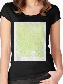 USGS TOPO Map Arkansas AR Treat 259754 1980 24000 Women's Fitted Scoop T-Shirt