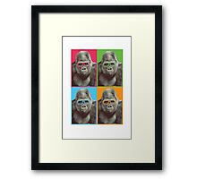 Harambe - Pop Art Framed Print