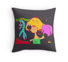 Uncle Barber and His Nomadic Travellers Throw Pillow