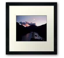 Purple Sunset at Diablo Lake Framed Print