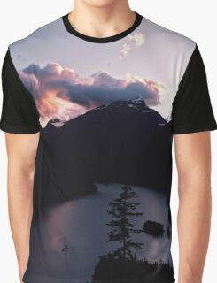 Purple Sunset at Diablo Lake Graphic T-Shirt