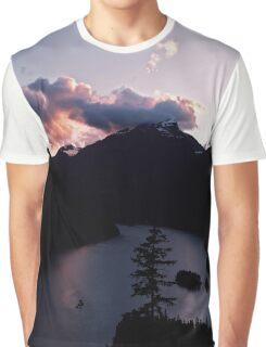 Purple Sunset at Diablo Lake Graphic T-Shirt