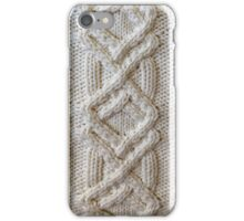 Fisherman cable knit iPhone Case/Skin
