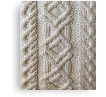 Fisherman cable knit Canvas Print