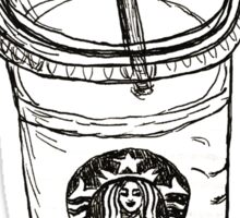 But First Coffee Starbucks Cup Sticker