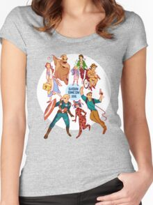 Glasgow Comic Con (Blu)  Women's Fitted Scoop T-Shirt