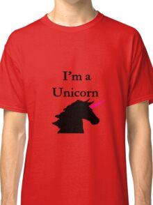 I'm a Unicorn Photo 2 Black Pink Horn Classic T-Shirt