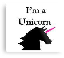 I'm a Unicorn Photo 2 Black Pink Horn Metal Print