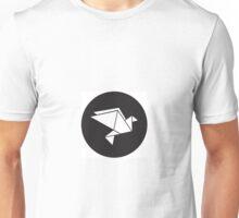 minimal origami dove Unisex T-Shirt