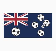 Australian Flag Soccer balls by piedaydesigns