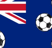 Australian Flag Soccer balls Sticker