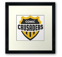 Comic Crusader Gear Framed Print