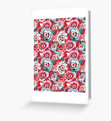 Lovely rose pattern graphics Greeting Card