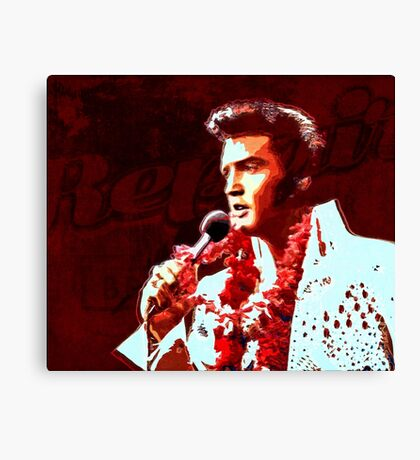 The king of rock in concert Canvas Print