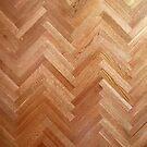 Oak floor in herringbone pattern by knititude