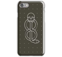 Minimalist Dark Marks HP Black iPhone Case/Skin