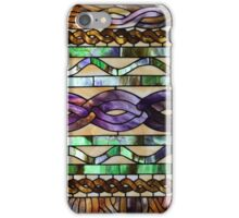 Stained glass imitates knitted cables iPhone Case/Skin