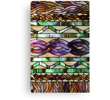 Stained glass imitates knitted cables Canvas Print