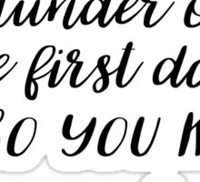 OUAT - I don't pillage and plunder on the first date Sticker