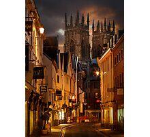 Lower Petergate & York Minster Photographic Print