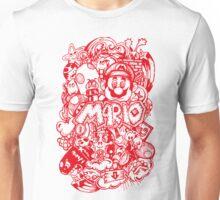 Super Mario Doodle Red Unisex T-Shirt