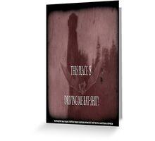 "'Orlock, the Vampire #2' (as killer vampire bat),  FROM THE FILM "" Nosferatu vs. Father Pipecock & Sister Funk (2014) Greeting Card"