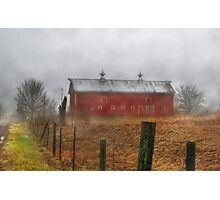 The Old Red Barn Photographic Print