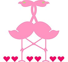 The Flamingo Lovers VRS2 Photographic Print