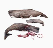 Sperm whale family Kids Tee