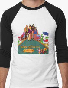 Yellow Zeppelin Submarine T-Shirt Men's Baseball ¾ T-Shirt
