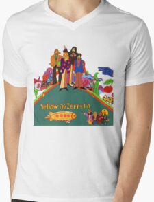 Yellow Zeppelin Submarine T-Shirt Mens V-Neck T-Shirt