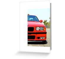E36 RED 2 Greeting Card