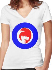 Drummer Mod Target T-Shirt Women's Fitted V-Neck T-Shirt