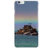 A Beautiful Rainbow over The Wrecks iPhone Case/Skin