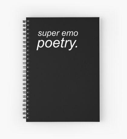 Super Emo Poetry notebook Spiral Notebook