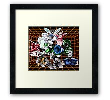 Kid Chameleon Grid Framed Print