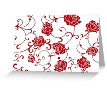 retro  flower rose Greeting Card
