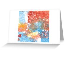 hand drawn watercolor bubble  Greeting Card