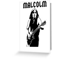 Malcolm Young Guitar Greeting Card