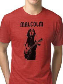 Malcolm Young Guitar Tri-blend T-Shirt