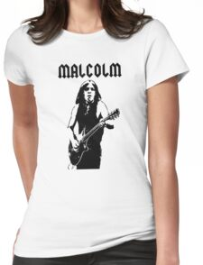 Malcolm Young Guitar Womens Fitted T-Shirt