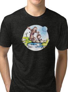 Calvin & Hobbes / Chewbacca & Han Solo Tri-blend T-Shirt