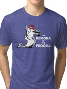 The Remora In The Fedora Tri-blend T-Shirt