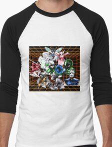 Kid Chameleon Grid Men's Baseball ¾ T-Shirt