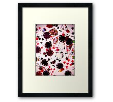 Poker and Chocolate Framed Print